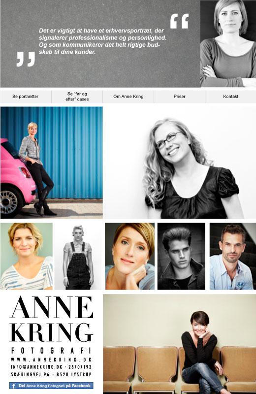 Anne Kring har fået en velkomstside på Facebook