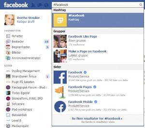 Sådan bruger du #Hashtag i søgefeltet hos Facebook