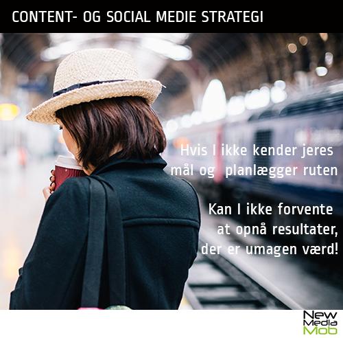 Citat om hvorfor det er vigtigt at lægge en strategi for brugen af content og sociale medier